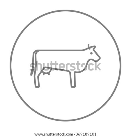 Cow line icon. - stock vector