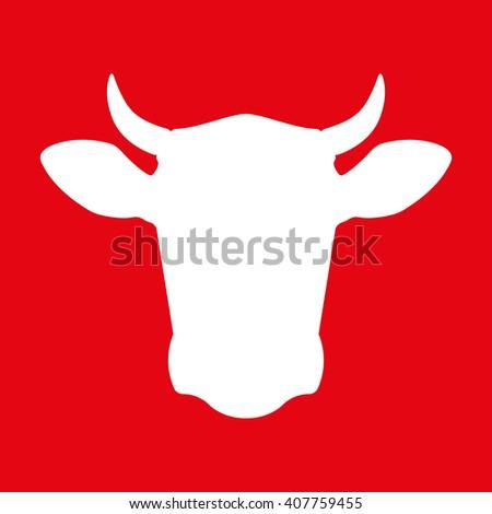 cow head icon cow head silhouette stock vector 397402249