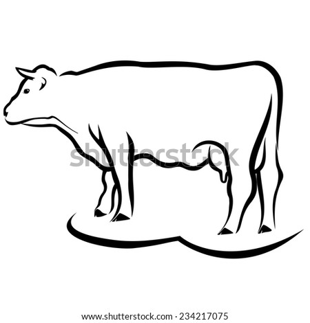 cow outline stock images  royalty