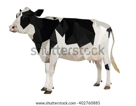 Cow vector geometric shapes
