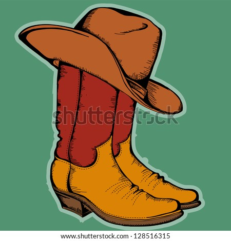 Colored Cowboy Hats Cowboy Boots And Hat