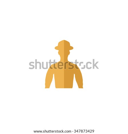 Cowboy Color vector icon on white background  - stock vector