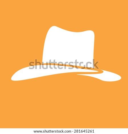cowboy hat silhouette . vector illustration. - stock vector