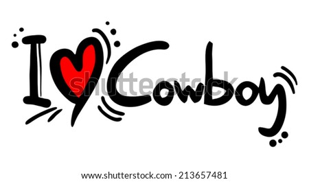Cowboy love - stock vector