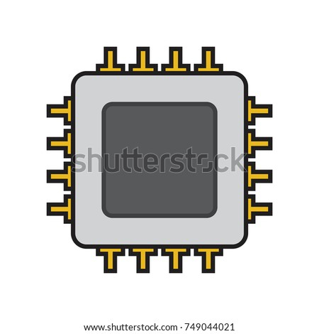 """3D illustration of computer electronic microprocessor CPU """" Stock ..."""