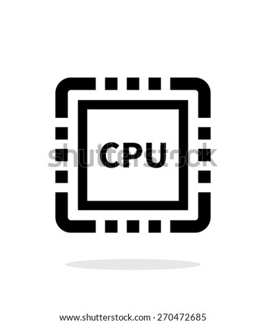 CPU simple icon on white background. Vector illustration. - stock vector
