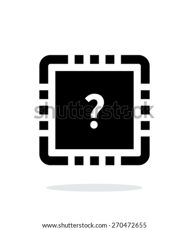 CPU Test simple icon on white background. Vector illustration. - stock vector