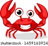 crab character smiling with big ...