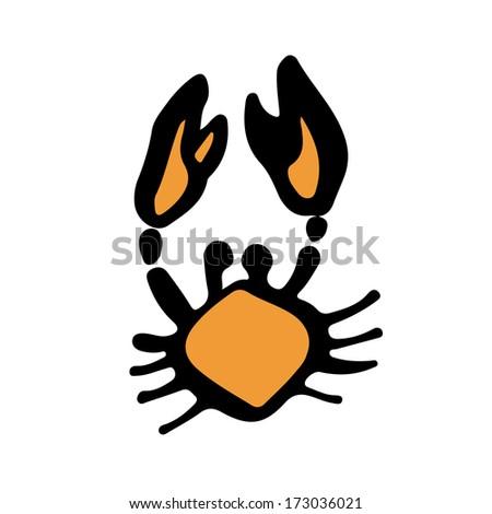 Crab icon. - stock vector