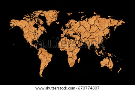 Cracked dry earth map low poly stock photo photo vector cracked and dry earth map low poly world map global warming oil pollution gumiabroncs Image collections