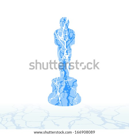 Cracked ice symbols of the snow. - stock vector
