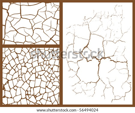 cracked set - stock vector