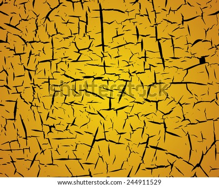 Cracks texture background - stock vector