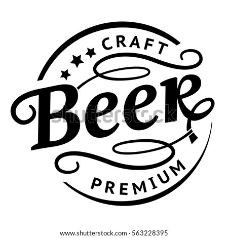 Hand drawn typography coffee posters set stock vector for Craft beer logo design