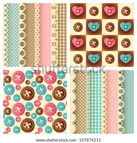 craft seamless pattern - stock vector