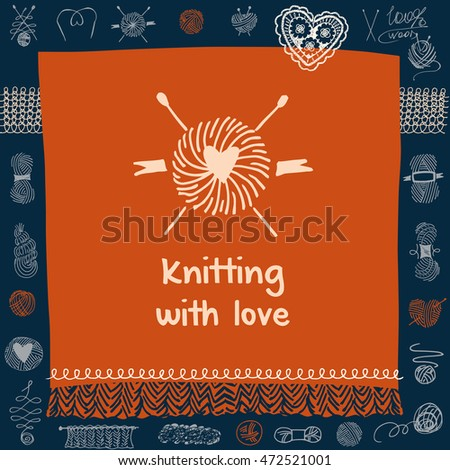 Crafts market knitting love element corporate stock vector 472521001 element of corporate identity banner card for colourmoves