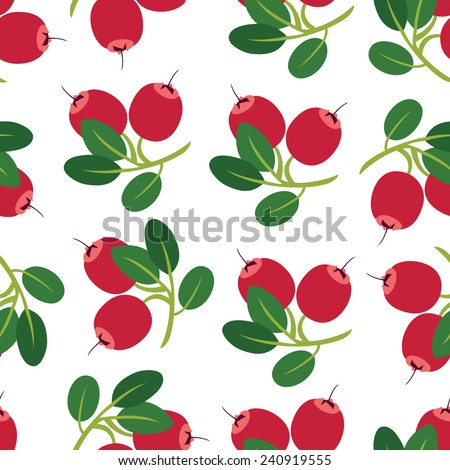 Cranberry background - stock vector