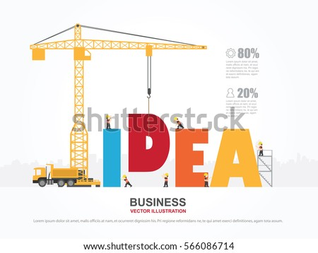Crane Idea Building Infographic Template Vector Stock Vector ...