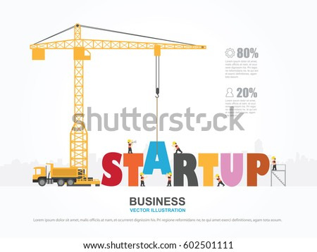 Crane Startup Building Infographic Template Vector Stock Vector HD ...