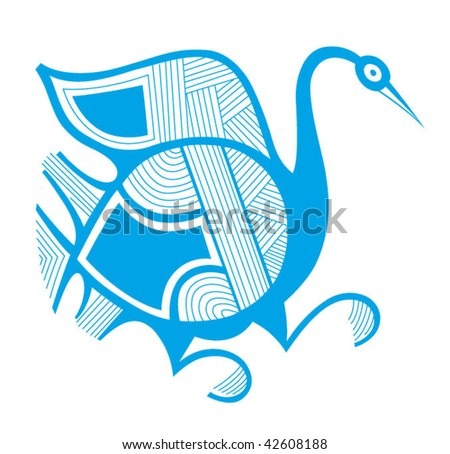 Crane from fairy tale for your idea