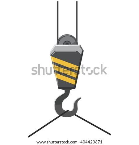 Crane hook icon - stock vector