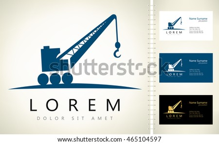 Crane vector business card template stock vector 2018 465104597 crane vector with business card template colourmoves