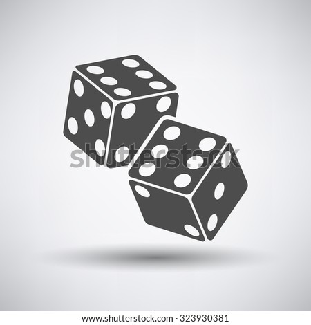 Craps dice icon over grey background. Vector illustration. - stock vector