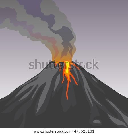 Volcano Background Sto...