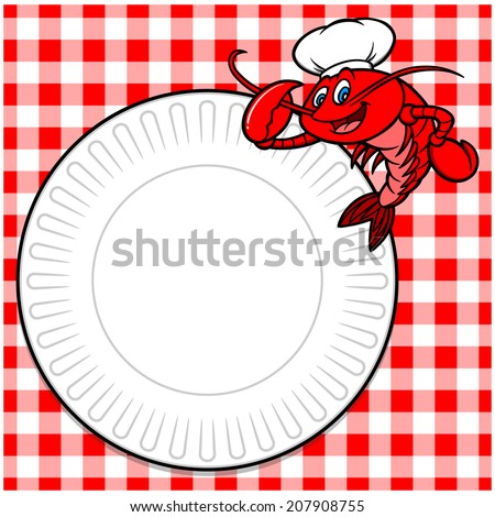 Crawfish Cookout Invite - stock vector