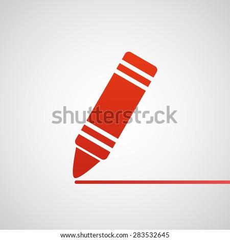 Crayon icon - stock vector
