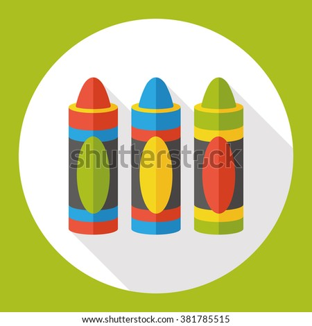crayon paint flat icon