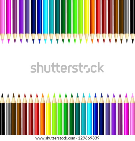 crayon set - stock vector