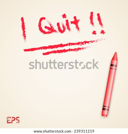Crayon style resign word - stock vector