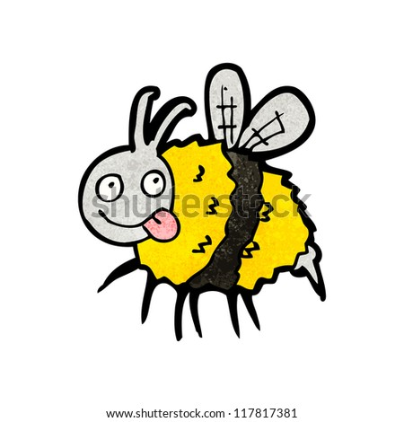 crazy bee cartoon