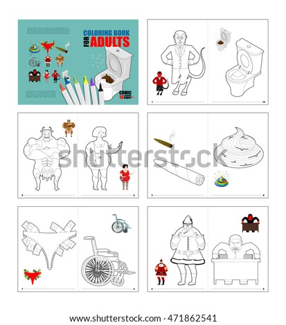 Crazy Coloring Book Adults Illustrations Colouring Stock Vector ...