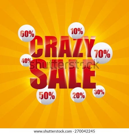 crazy sale design, vector illustration eps10 graphic