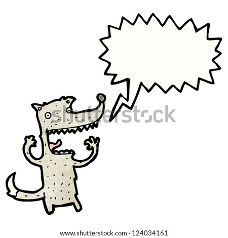 crazy wolf cartoon character - stock vector