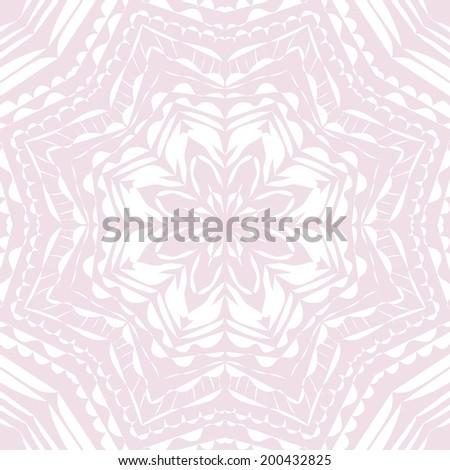 Crcular abstract ornament. Vector illustration. - stock vector