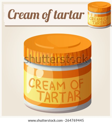 Cream of tartar. Detailed Vector Icon. Series of food and drink and ingredients for cooking. - stock vector