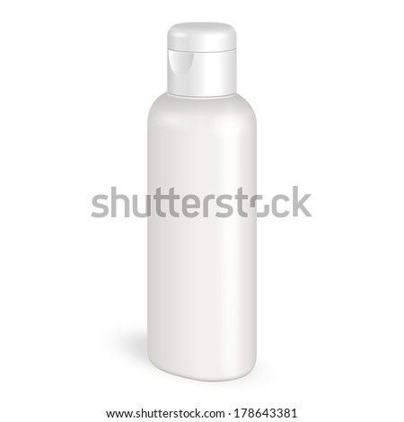Cream, Shampoo, Gel Or Lotion Plastic Bottle On White Background Isolated. Ready For Your Design. Product Packing Vector EPS10 - stock vector