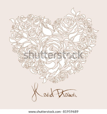 creamy wedding card