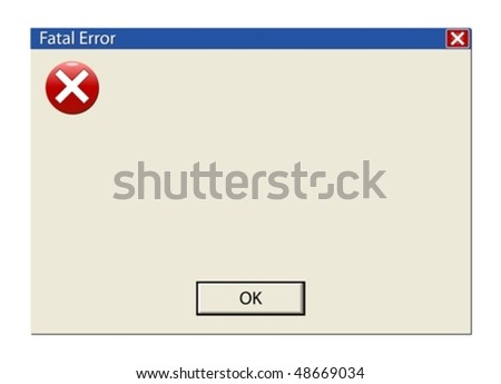 Create your own error or information message. Classic computer information signs - stock vector