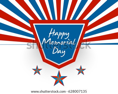 creative abstract, banner or poster for Happy Memorial Day of USA with nice and creative design illustration.