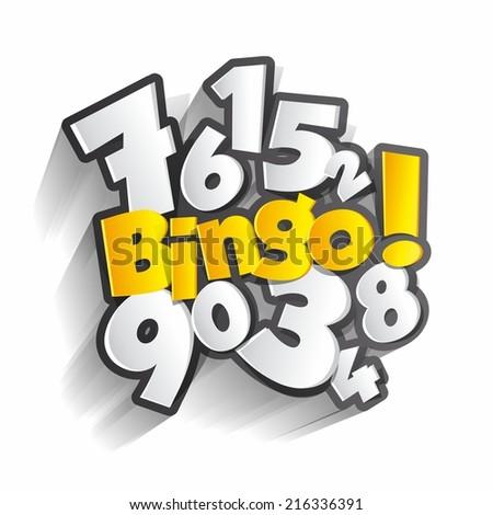 Creative Abstract Bingo, Jackpot symbol vector illustration  - stock vector