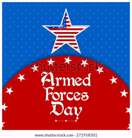 Creative abstract for Armed Forces Day with US Flag theme in a creative red and blue colour background. - stock vector