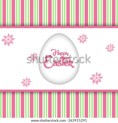 Creative Abstract for Happy Easter with nice and creative background. - stock vector