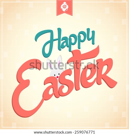 Creative Abstract for Happy Easter with nice and creative gradient effect in a background. - stock vector