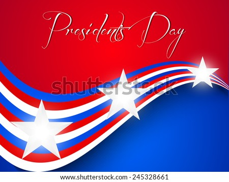 Creative Abstract for President Day with nice and creative background - stock vector