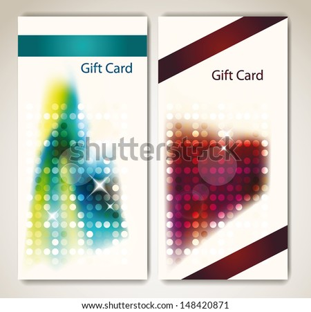 Creative abstract gift banners - stock vector