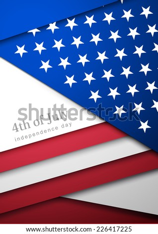 Creative Abstract Happy Veterans Day, USA Independence Day, vector Illustration. Card With Abstract Flag - stock vector